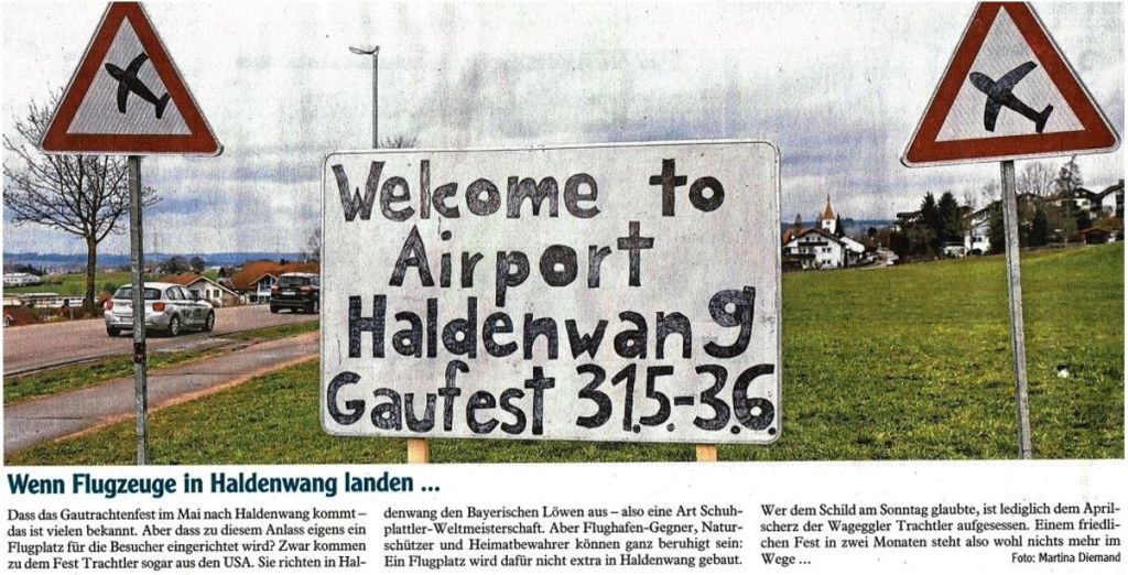 Welcome to Airport Haldenwang - Gaufest 31.05. - 03.06.2018